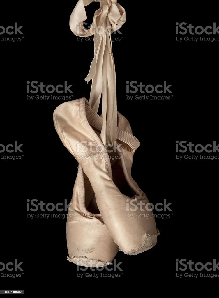 hanging ballet slippers royalty-free stock photo