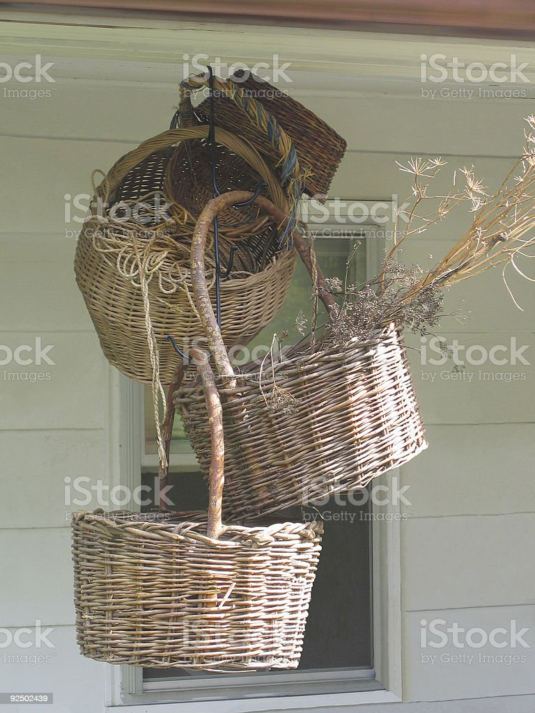 Hanging Baskets royalty-free stock photo