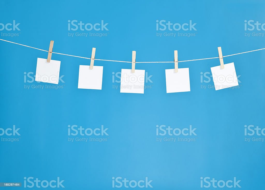 hanging blank note pads stock photo