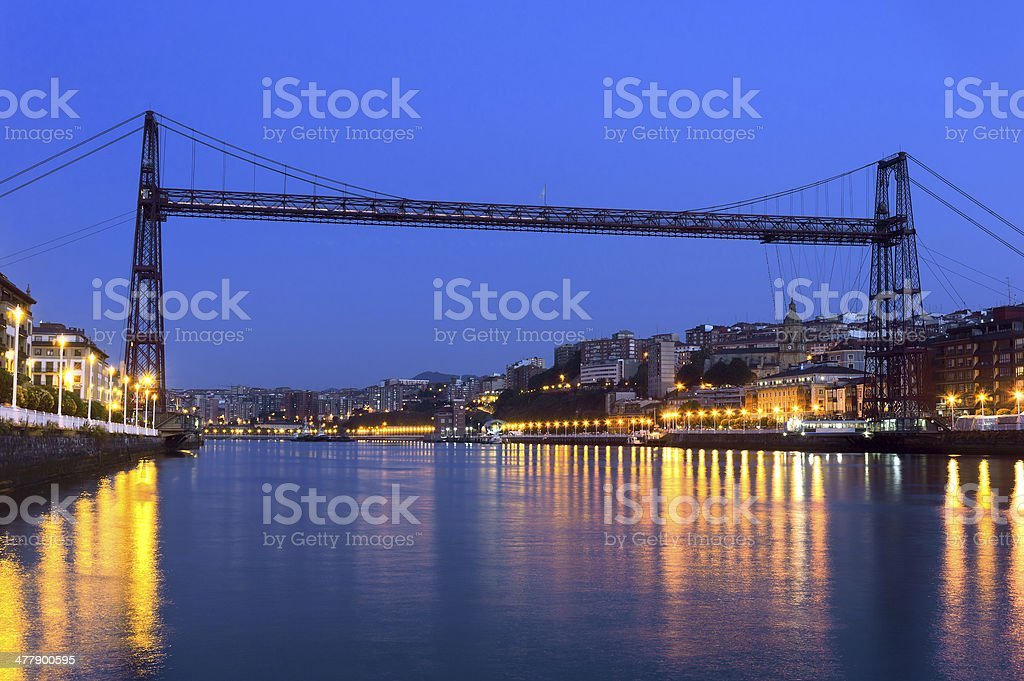 Hanging bridge between Portugalete and Getxo. Vizcaya, Basque Co stock photo