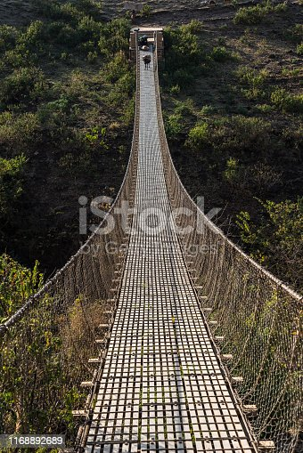 Hanging bridge over the Blue Nile near Tis Issat in Ethiopia