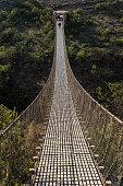 Hanging bridge over the Blue Nile near Tis Issat in Ethiopia