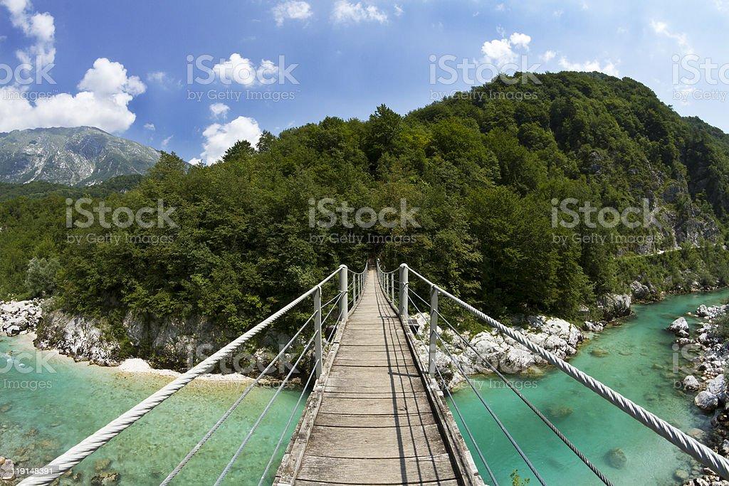 Hanging bridge royalty-free stock photo