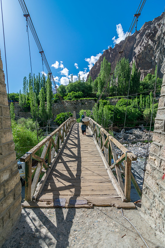 Hanging Bridge Turtuk Village Nubra Valley Ladakh Jammu And Kashmir Stock  Photo - Download Image Now - iStock