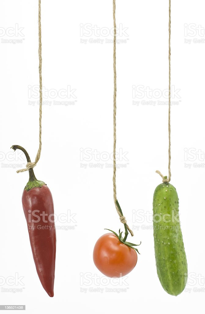 Hanging by a string. royalty-free stock photo
