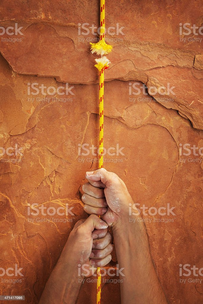 Hanging by a Thread stock photo