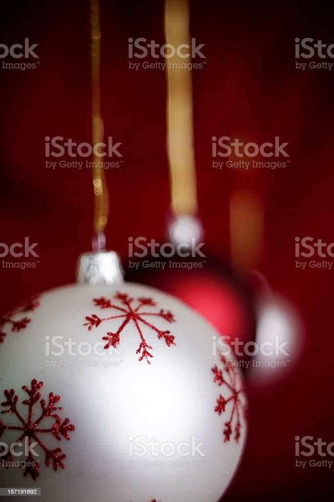 Hanging Christmas Ornaments royalty-free stock photo
