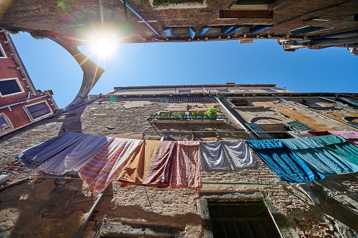 Hanging Clothes in Venice