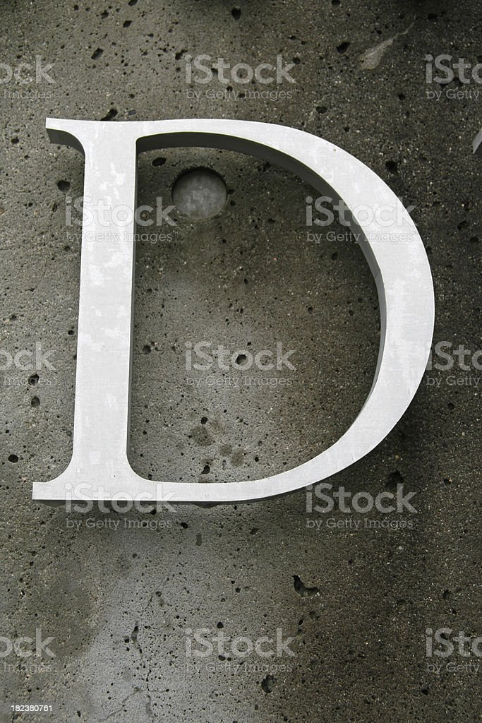 Hanging D royalty-free stock photo