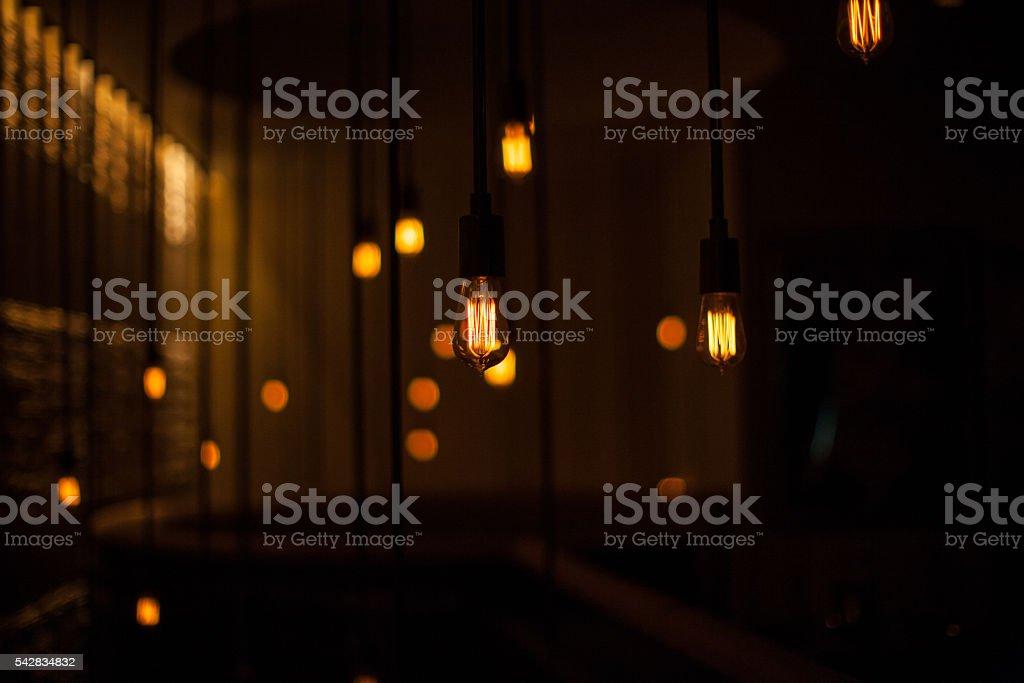 Hanging Edison Light stock photo
