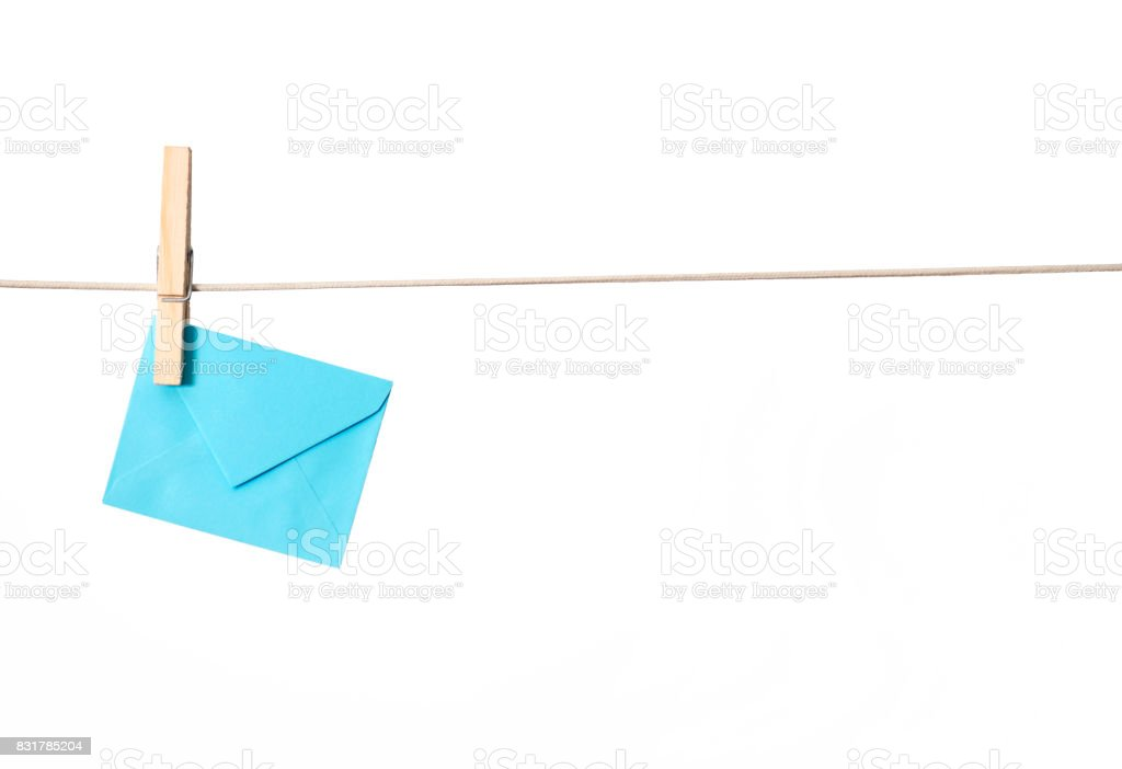 Hanging Envelope stock photo