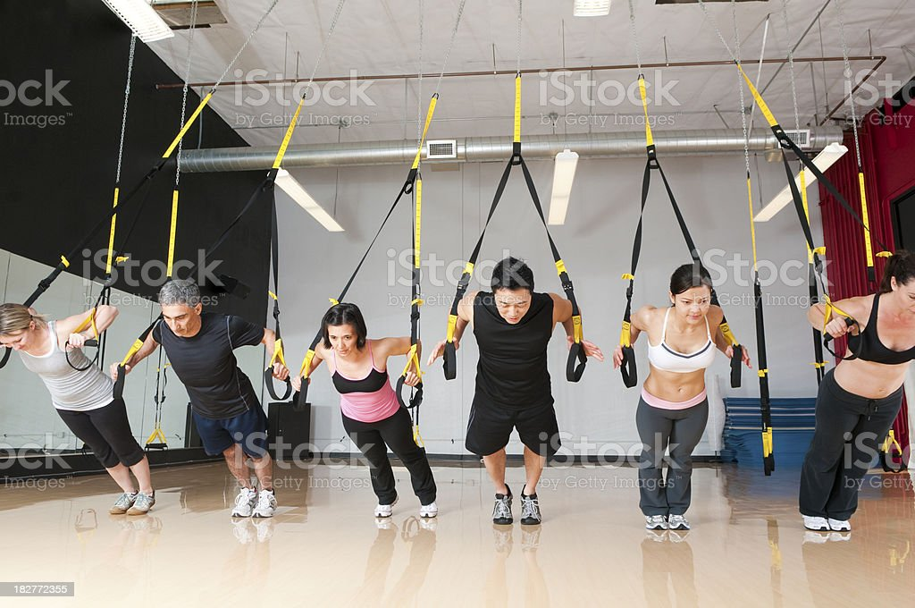 Hanging Fitness Strap Work Out - TRX Series royalty-free stock photo