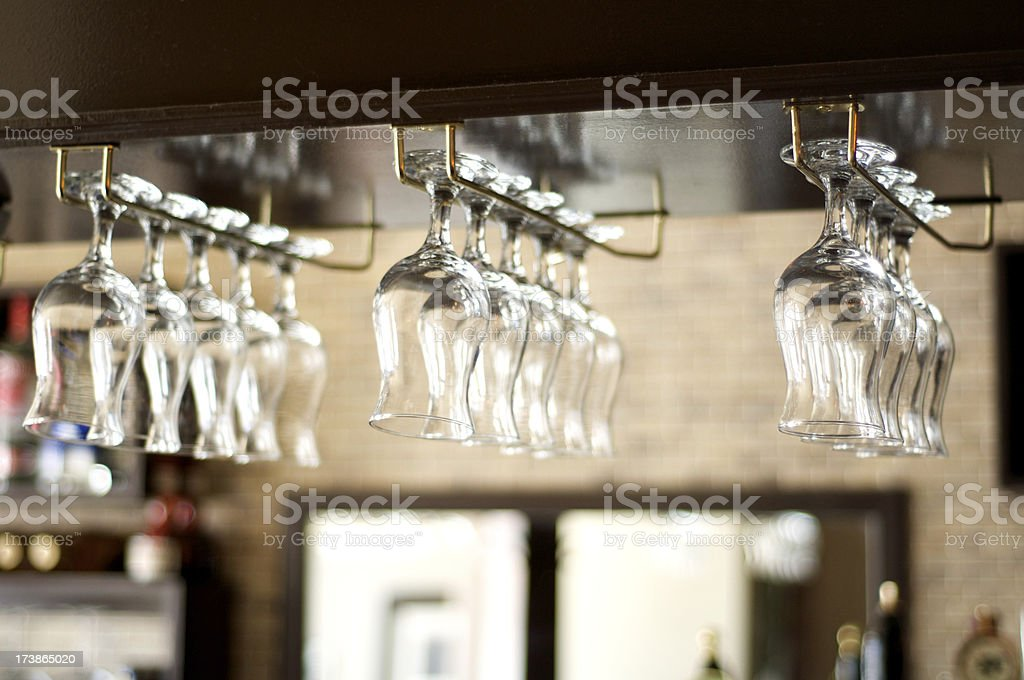 Hanging Glasses royalty-free stock photo