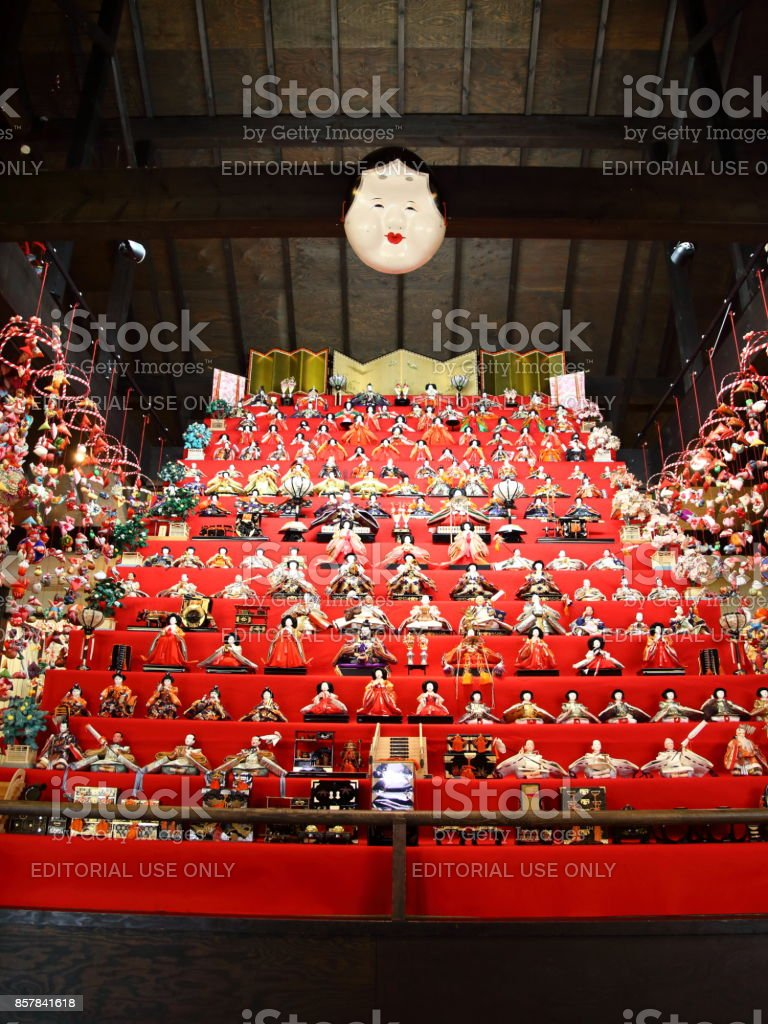Hanging Hina Doll in JAPAN stock photo