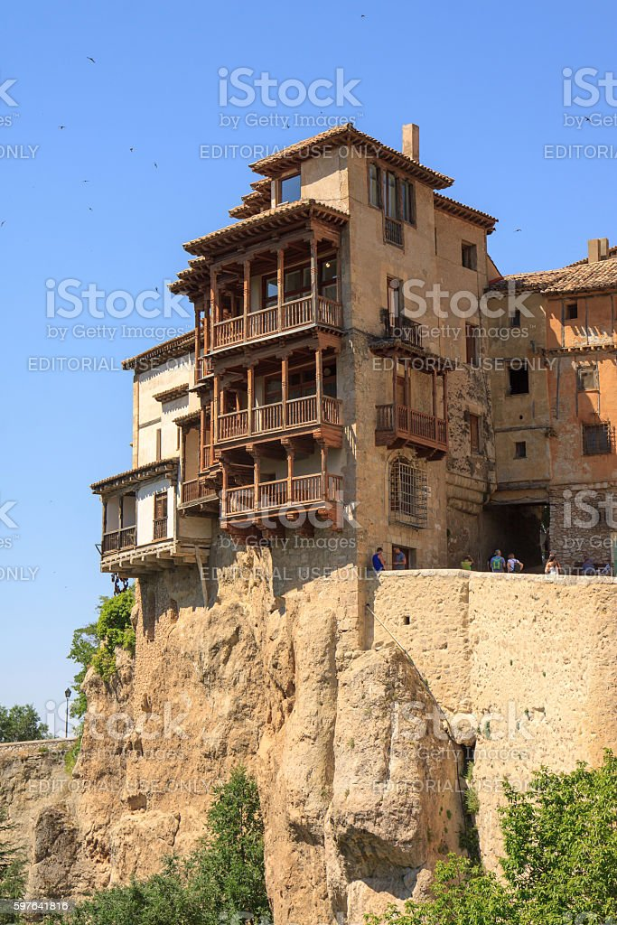 Hanging Houses Of Cuenca Stock Photo