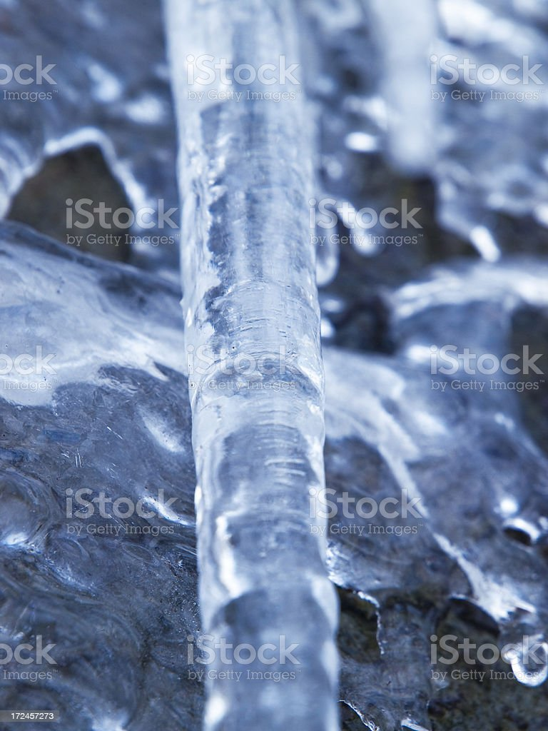 Hanging Icicles Close-Up royalty-free stock photo