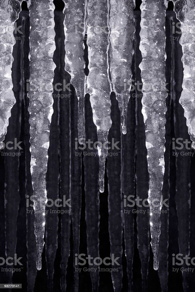 Hanging Icicles royalty-free stock photo