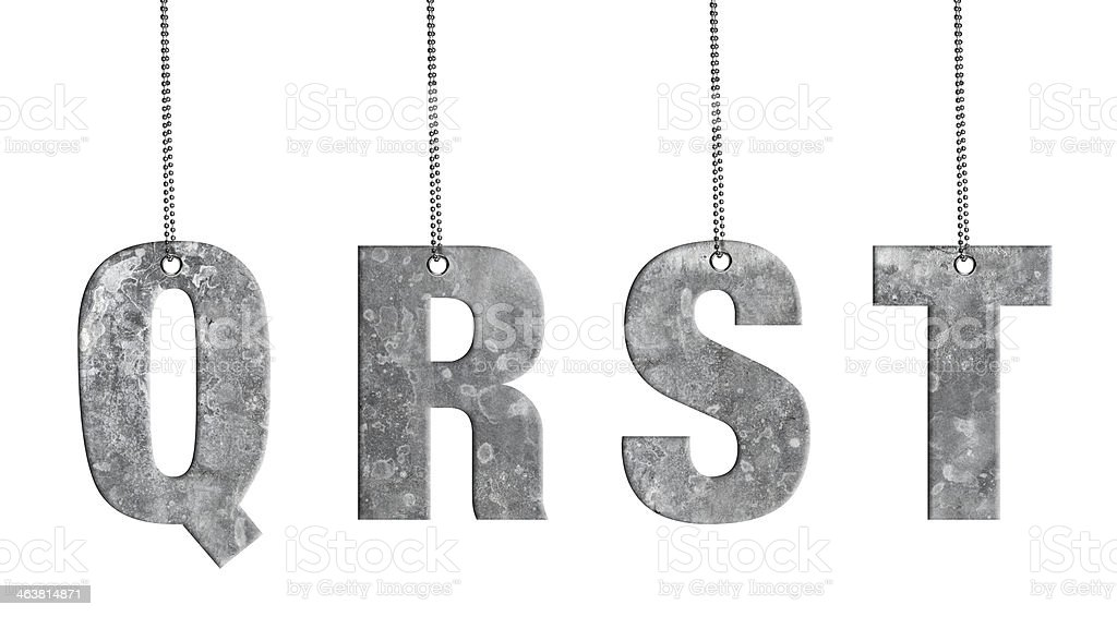 Hanging Iron Alphabet (Clipping Path) stock photo
