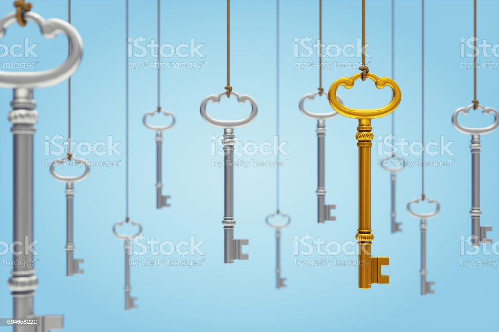 Hanging Keys stock photo