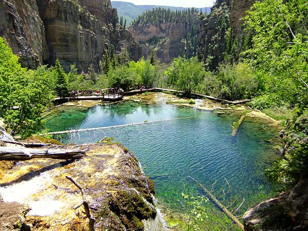 Hanging lake, Glenwood Canyon, Colorado – Foto
