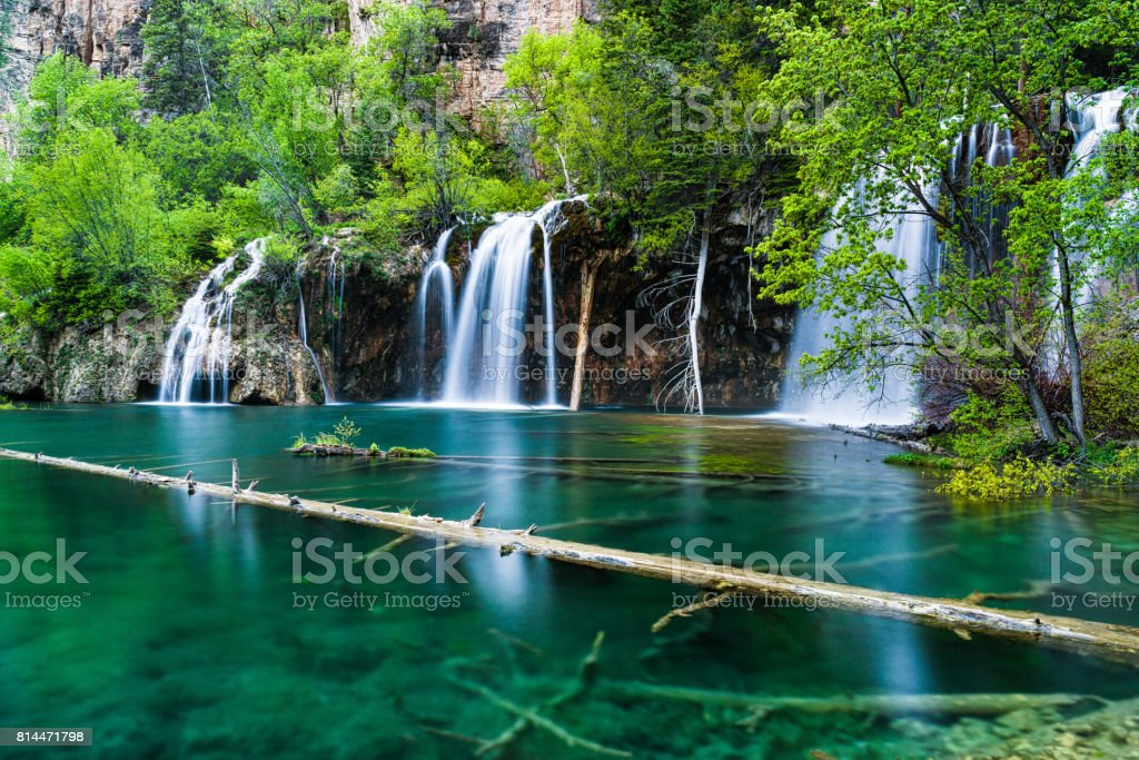 Hanging Lake Glenwood Canyon Colorado stock photo