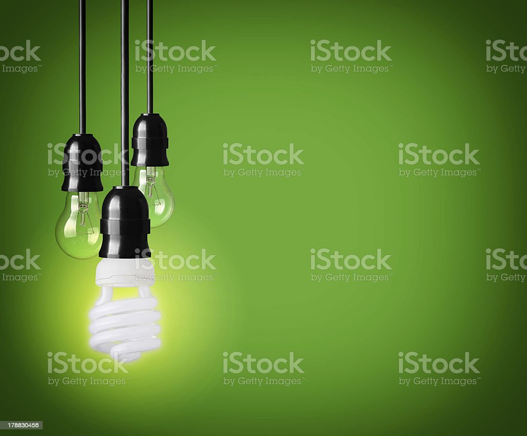 hanging lamps. new creative thinking stock photo