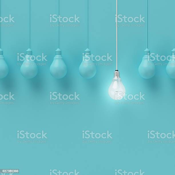 Hanging light bulbs with glowing one different idea picture id637385366?b=1&k=6&m=637385366&s=612x612&h=pkylqw1eo8 s 8v7klxk4gqrjkbpvcebhc l3hqqdke=