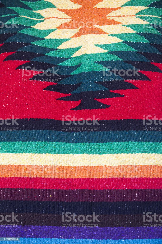 Hanging Mexican Hand Woven Rug, Background, Pattern royalty-free stock photo