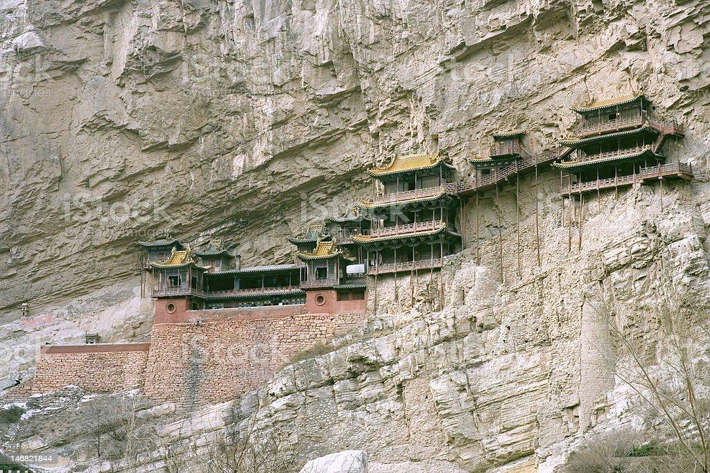 Hanging Monastery, China royalty-free stock photo