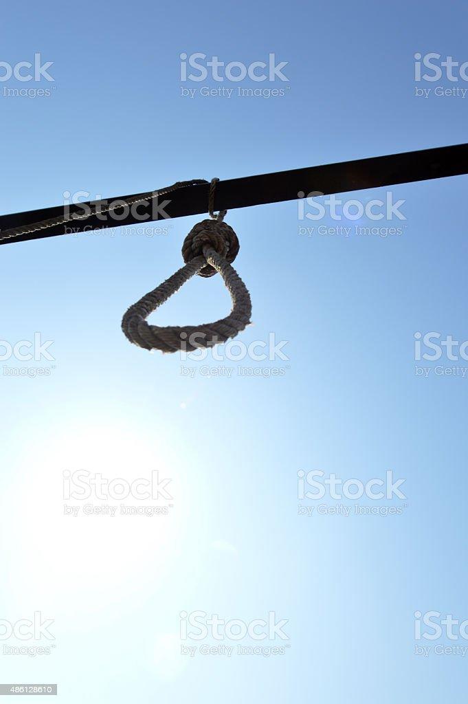 Hanging noose stock photo