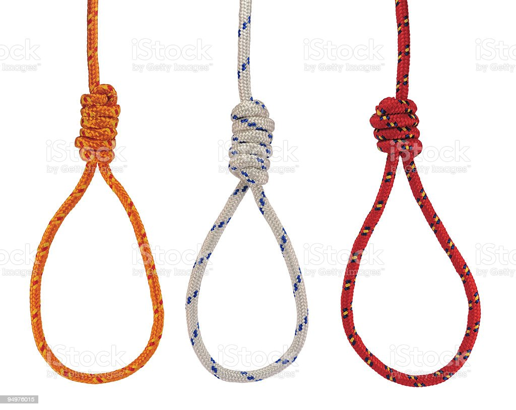 Hanging nooses royalty-free stock photo