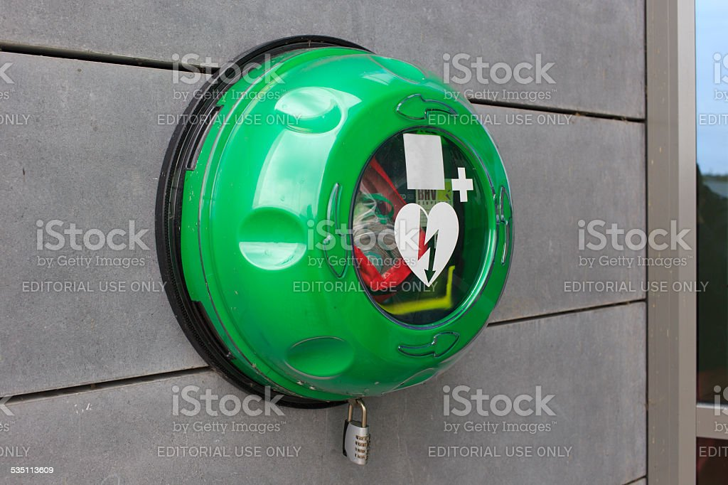 AED hanging on a wall​​​ foto