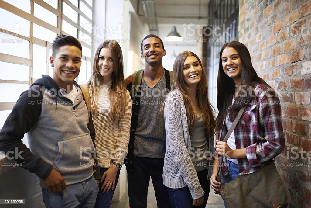 Hanging out after class stock photo