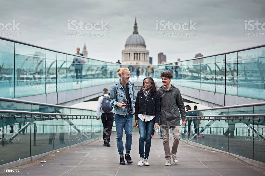 Hanging out around London stock photo