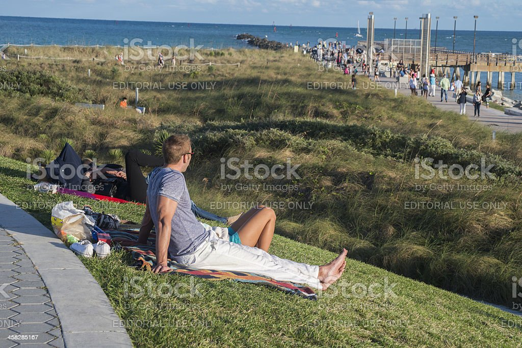 Hanging out on Miami Beach royalty-free stock photo