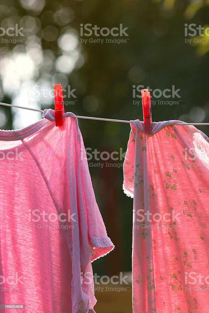 Hanging out to dry stock photo