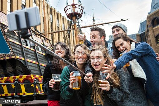 istock Hanging out with a fresh beer in a London Pub 485762178