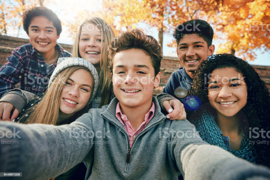 Hanging out with the crew stock photo