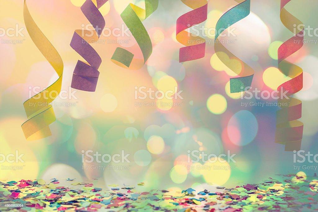Hängende Papier Luftschlange und Konfetti - Lizenzfrei 2015 Stock-Foto