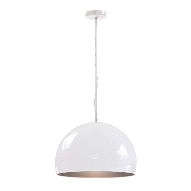 hanging pendant lamp 3d rendering hanging pendant lamp isolated on white household fixture stock pictures, royalty-free photos & images