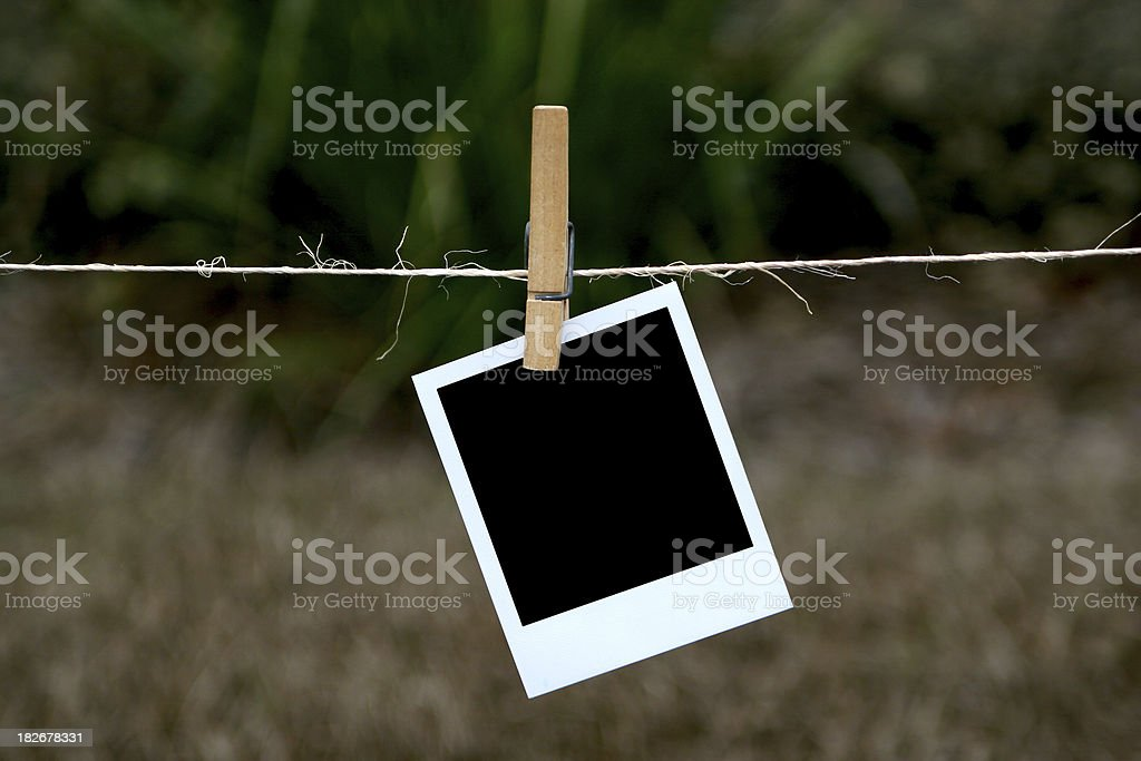 Hanging Photo frame royalty-free stock photo