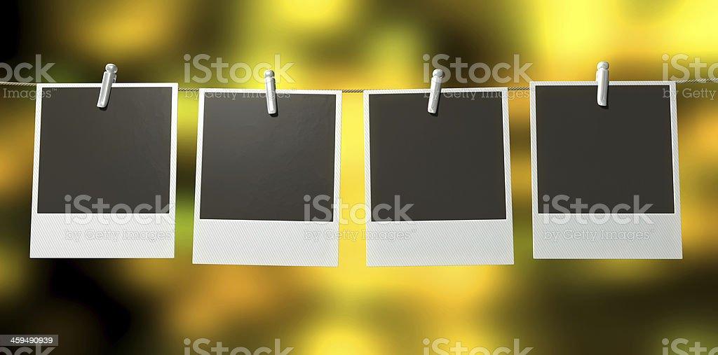 Hanging Polaroid Gallery royalty-free stock photo