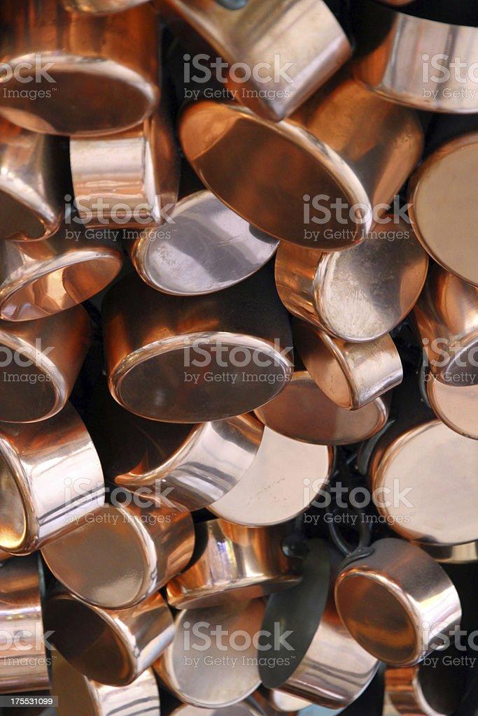 Hanging Pots stock photo