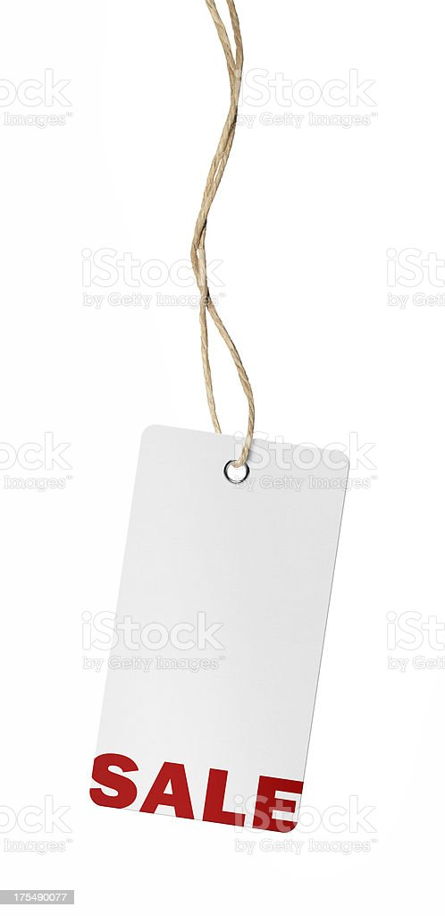 Hanging Sale Tag (Clipping Path) royalty-free stock photo