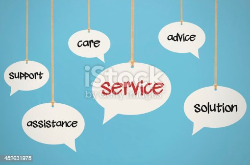 istock Hanging Service Speech Bubbles 452631975
