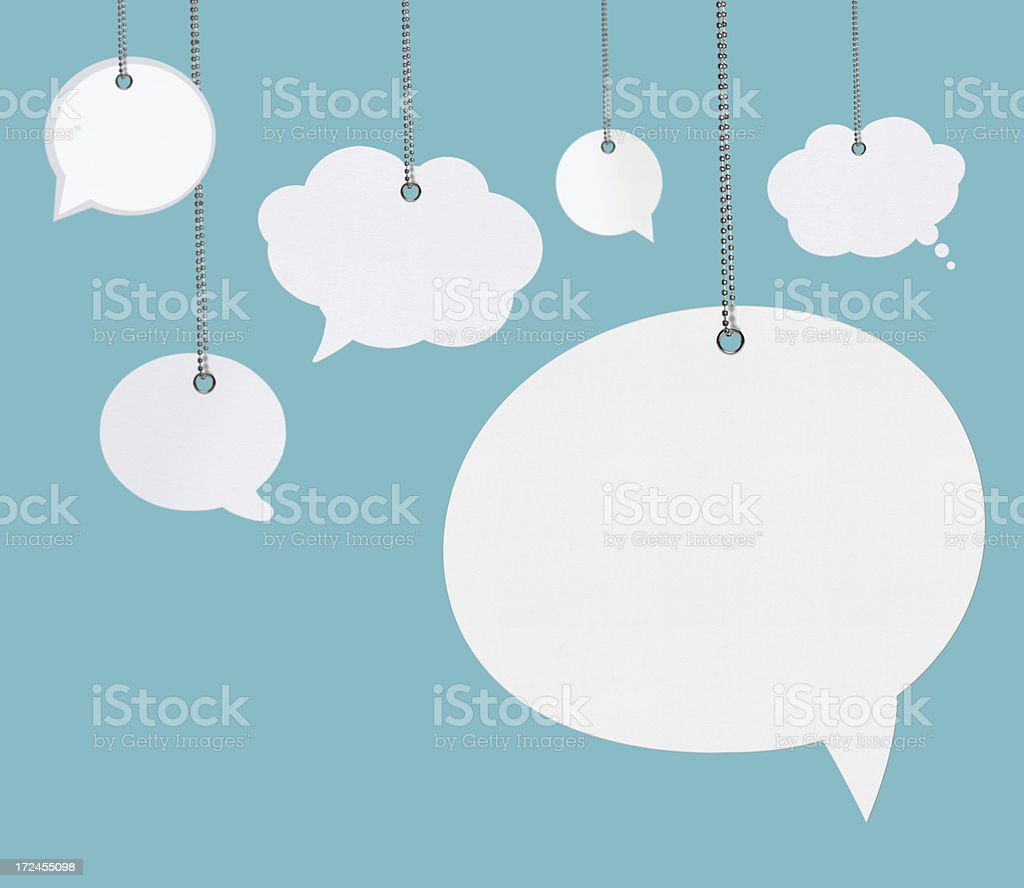 Hanging Speech Bubbles royalty-free stock photo