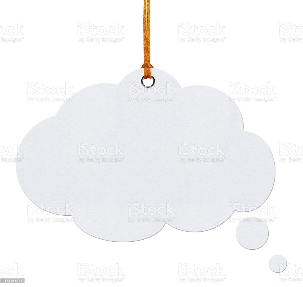 Hanging Speech Bubbles (Clipping Path) stock photo