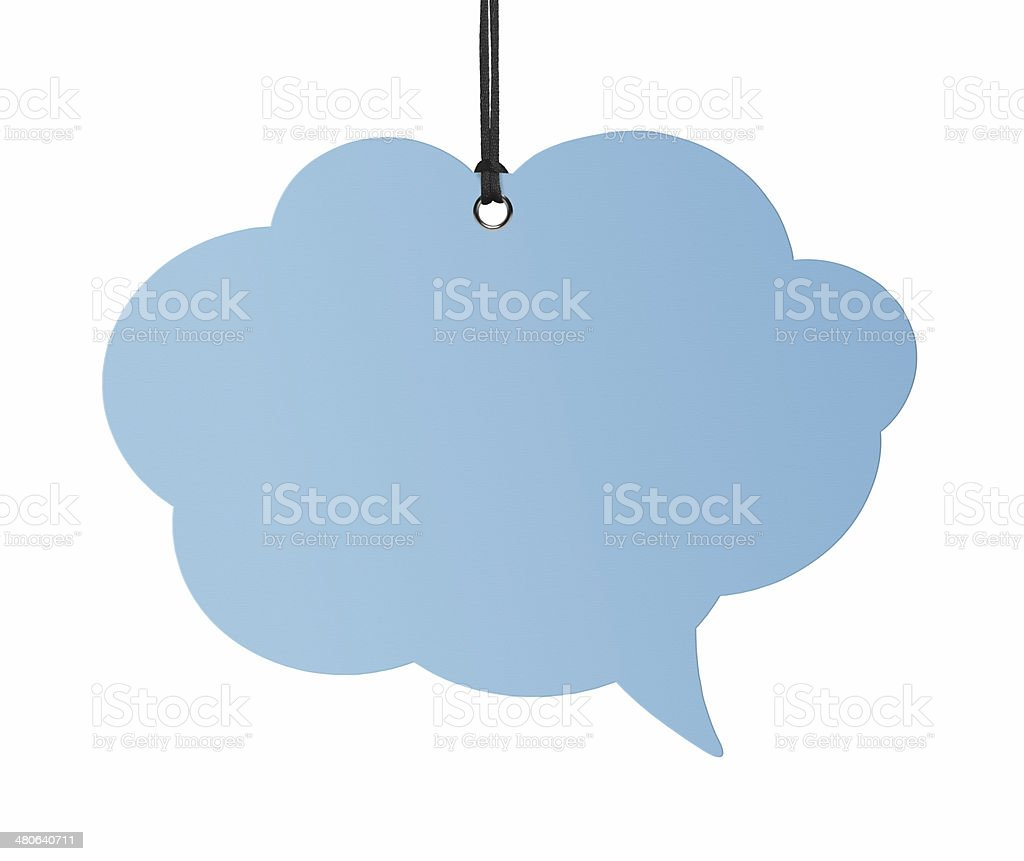 Hanging Speech Bubbles (Clipping Path) royalty-free stock photo