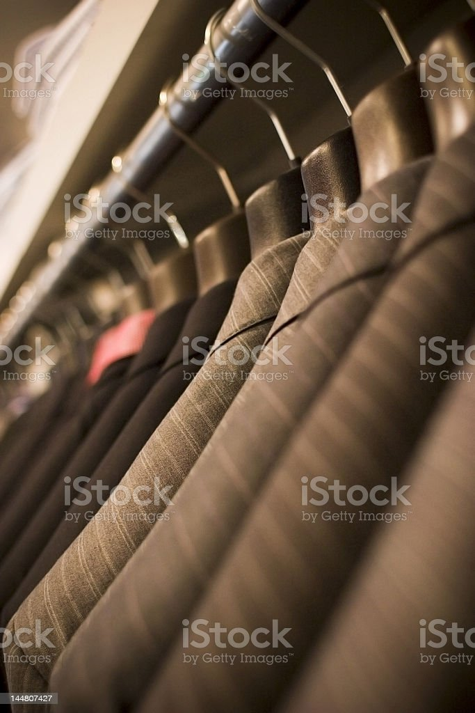 Hanging Suits stock photo