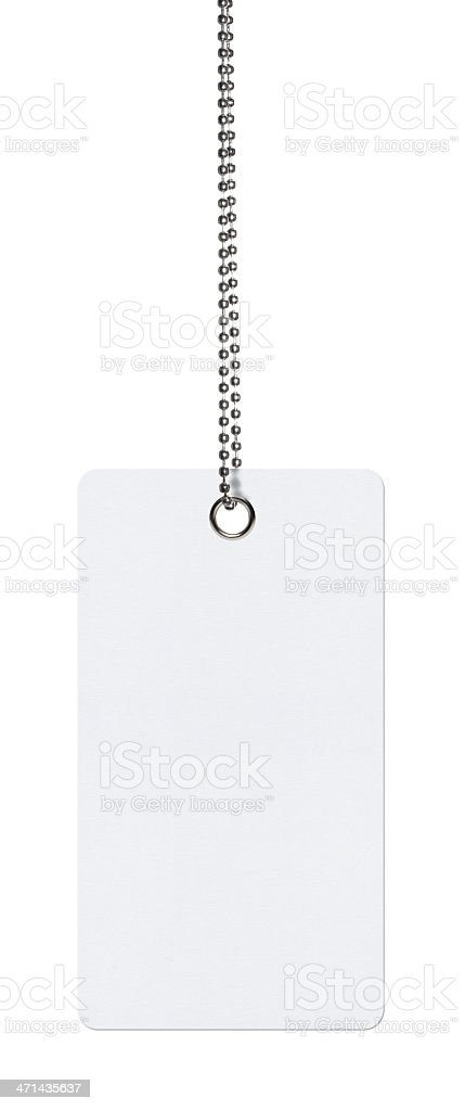 Hanging Tag (Clipping Path) royalty-free stock photo